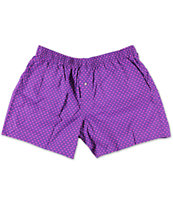 Diamond Supply Co Polka Dot Purple & Magenta Boxers