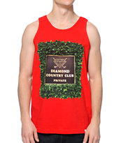 Diamond Supply Co Private Country Club Red Tank Top