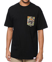 Diamond Supply Co Rainfrog Black Pocket Tee Shirt