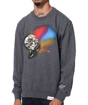 Diamond Supply Co Reflection Charcoal Crew Neck Sweatshirt