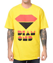 Diamond Supply Co Retro Yellow Tee Shirt