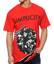 Diamond Supply Co Simplicity 2 Red Tee Shirt