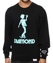 Diamond Supply Co Skate Kid Crew Neck Sweatshirt