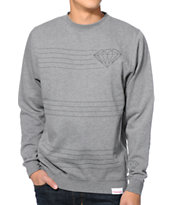 Diamond Supply Co Striped Grey Crew Neck Sweatshirt