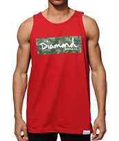 Diamond Supply Co Tonal Box Logo Tank Top