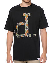 Diamond Supply Co Un Polo Rain Camo Black Tee Shirt