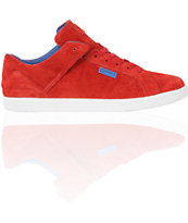 Diamond Supply Co VVS Red & Blue Suede Skate Shoe