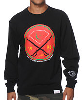 Diamond Supply Co Victory Swords Black Crew Neck Sweatshirt