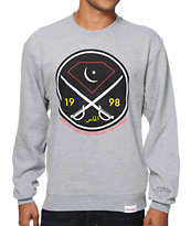 Diamond Supply Co Victory Swords Heather Grey Crew Neck Sweatshirt