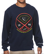 Diamond Supply Co Victory Swords Navy Crew Neck Sweatshirt