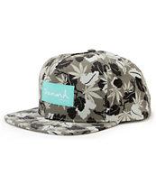 Diamond Supply Co Weed Black & Grey Snapback Hat
