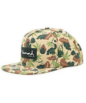 Diamond Supply Co Weed Khaki & Green Snapback Hat
