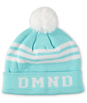 Diamond Supply Co Women's DMND Diamond Blue & White Pom Fold Beanie