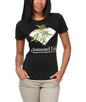 Diamond Supply Co Women's Homegrown Black Tee Shirt