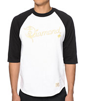 Diamond Supply Co Yacht Script Baseball Tee Shirt