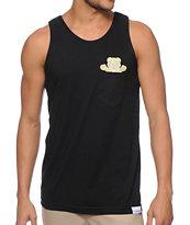 Diamond Supply Co x Ben Baller x Grizzly Black Pocket Tank Top