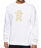Diamond Supply Co x Ben Baller x Grizzly White Crew Neck Sweatshirt