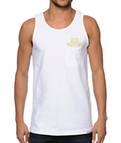 Diamond Supply Co x Ben Baller x Grizzly White Pocket Tank Top