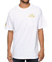 Diamond Supply Co x Ben Baller x Grizzly White Pocket Tee Shirt