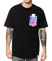 Diamond Supply Co x Grizzly Digi Tie Dye Black Pocket Tee Shirt