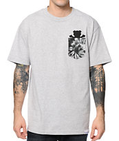 Diamond Supply Co x Grizzly Digi Tie Dye Grey Pocket Tee Shirt