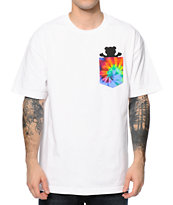 Diamond Supply Co x Grizzly Digi Tie Dye White Pocket Tee Shirt