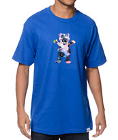 Diamond Supply Co x Grizzly Grip Dia De Los P-Rod 2 Blue Tee Shirt