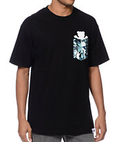 Diamond Supply Co x Grizzly Grip Simplicity Black Pocket Tee Shirt