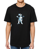 Diamond Supply Co x Grizzly Grip Tape Simplicity Bear Black Tee Shirt