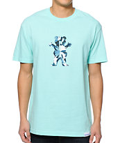 Diamond Supply Co x Grizzly Grip Tape Simplicity Bear Diamond Blue Tee Shirt