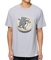 Diamond Supply Co x Grizzly Grip Tape The Beginning Grey Tee Shirt