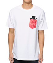 Diamond Supply Co x Grizzly Grip Tape Tie Dye Pocket White Tee Shirt