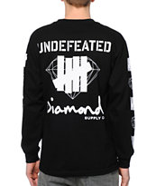 Diamond Supply Co x Undefeated Black Long Sleeve Shirt