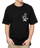 Diamond Supply Co x Undefeated D-Foot Black Tee Shirt