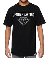 Diamond Supply Co x Undefeated Multi Logo Black Tee Shirt