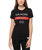 Diamond Supply Co. Bar Logo Black T-Shirt