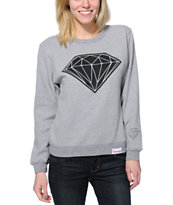 Diamond Supply Co. Big Brilliant Grey Crew Neck Sweatshirt