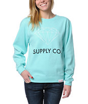 Diamond Supply Co. Blue Crew Neck Sweatshirt