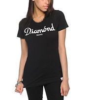 Diamond Supply Co. Champagne Black T-Shirt