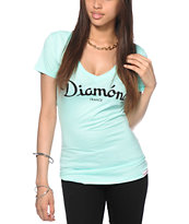 Diamond Supply Co. Champagne Mint V-Neck T-Shirt