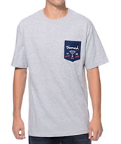 Diamond Supply Co. City Label Grey Pocket Tee Shirt