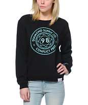 Diamond Supply Co. Conflict Free Black Crew Neck Sweatshirt