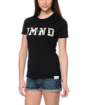 Diamond Supply Co. DMND Floral Fill Black T-Shirt