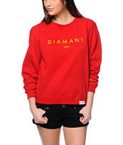 Diamond Supply Co. Diamant Red Crew Neck Sweatshirt
