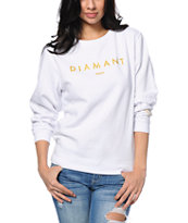 Diamond Supply Co. Diamant White Crew Neck Sweatshirt