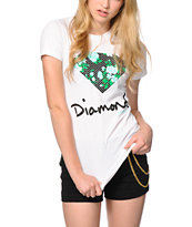 Diamond Supply Co. Floral Diamond White Tee Shirt