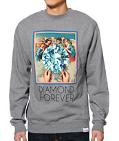 Diamond Supply Co. Forever Grey Crewneck Sweatshirt