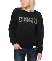 Diamond Supply Co. Girls DMND Camo Black Crew Neck Sweatshirt