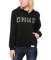 Diamond Supply Co. Girls DMND Camo Print Black Pullover Hoodie