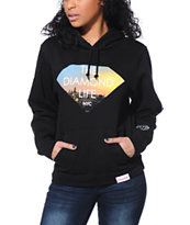 Diamond Supply Co. Girls Diamond Life NYC Black Pullover Hoodie